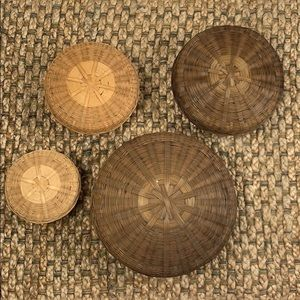 Other - Woven Basket Set with Lids